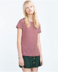Zara | Purple Tank Top | Lyst