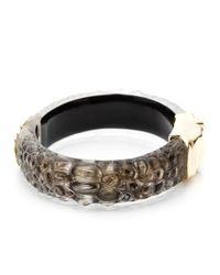 Alexis Bittar - Metallic Kinshasa Liquid Crocodile Hinged Bracelet - Lyst