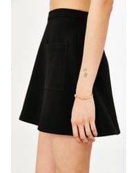 Silence + Noise | Black Amber Pocket A-line Skirt | Lyst