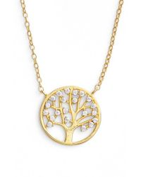 Argento Vivo | Metallic Tree Pendant Necklace | Lyst