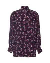 Mother Of Pearl - Red Allen Silk High Neck Blouse - Lyst