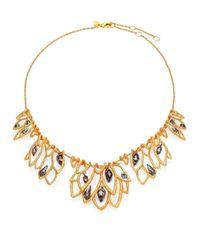 Alexis Bittar - Metallic Elements Phoenix Crystal Lace Leaf Bib Necklace - Lyst