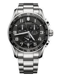 Victorinox | Metallic 'chrono Classic Xls' Bracelet Watch for Men | Lyst