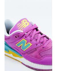 New Balance - 530 Bright Pink Trainers - Lyst