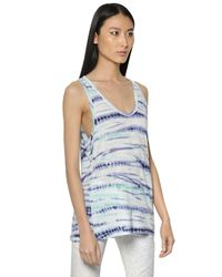 Proenza Schouler | Multicolor Tied And Dyed Cotton Jersey Tank Top | Lyst