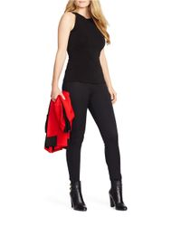 Lauren by Ralph Lauren | Black Plus Stretch-cotton Skinny Pants | Lyst
