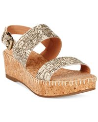 Corso Como | Natural Sandy Platform Wedge Sandals | Lyst