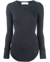 IRO - Gray 'lucy' Fine Knit Top - Lyst