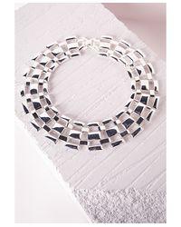 Missguided | Metallic Linked Statement Collar Silver | Lyst