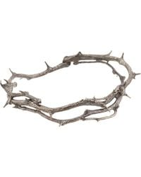 Pearls Before Swine - Metallic Silver Thorn Hinged Bangle - Lyst