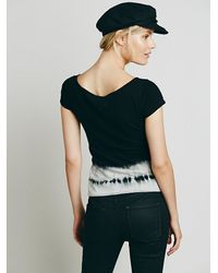 Free People | Black We The Free Baby Washed Tee | Lyst