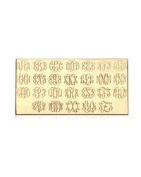 Ginette NY   Metallic Mini Signet Monogram Ring, Rose Gold   Lyst