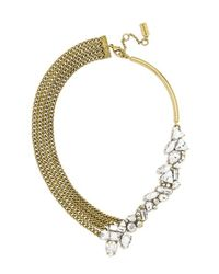 BaubleBar | Metallic 'triangulum' Collar Necklace - Clear/ Antique Gold | Lyst