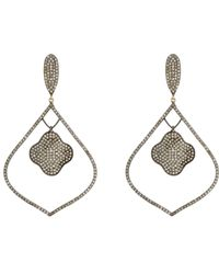 Carole Shashona | Metallic Lotus Arabesque Drop Earrings | Lyst