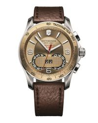 Victorinox | Brown 'chrono Classic' Watch for Men | Lyst