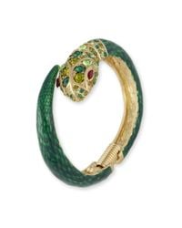 Kenneth Jay Lane | Green Snake Cuff | Lyst