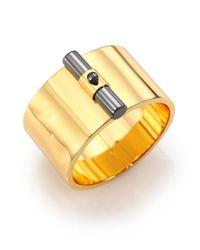 Reed Krakoff - Metallic T-Bar Two-Tone Cuff Bracelet - Lyst