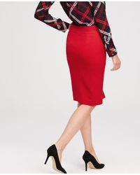 Ann Taylor | Red Refined Zip Pencil Skirt | Lyst