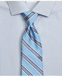 Brooks Brothers - Blue Satin Framed Stripe Tie for Men - Lyst