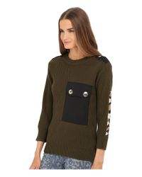 Marc By Marc Jacobs   Green Military Leopard Long Sweater   Lyst