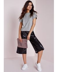Missguided | Gray Check Shell Top Grey | Lyst