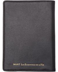 Want Les Essentiels De La Vie | Black Liberty Travel Wallet for Men | Lyst