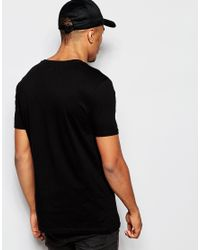 ASOS - Black Halloween T-shirt With Distressed Skeleton Print for Men - Lyst