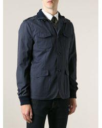 Dolce & Gabbana - Blue Roll-Neck Cotton-Blend Coat for Men - Lyst