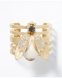 Ann Taylor | Metallic Brilliant Beetle Cuff | Lyst