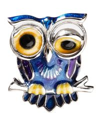 Jan Leslie | Blue Winking Owl Lapel Pin | Lyst