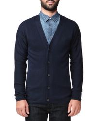 SELECTED - Blue Cardigan for Men - Lyst