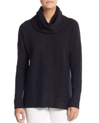 Vince | Gray Wool & Cashmere Slouchy Turtleneck Sweater | Lyst