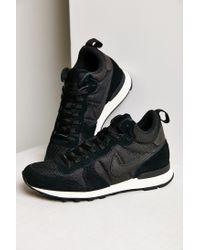 Nike | Black Internationalist Mid Sneaker | Lyst
