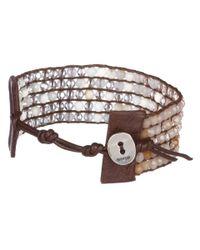 Chan Luu - Brown Cuff Bracelet with Swarovski Crystals - Lyst