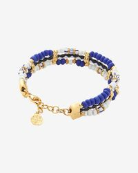Gas Bijoux - Blue Beaded Triple Layer Bracelet - Lyst