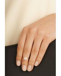 Sophie Bille Brahe | White Lisa Petite 14-Karat Gold Pearl Phalanx Ring | Lyst