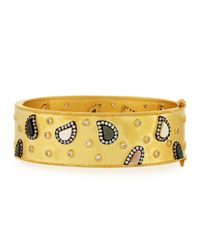 Freida Rothman | Yellow Asymmetrical Station Wide Bangle | Lyst