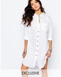 G-Star RAW | White Be Raw Shirt Dress | Lyst