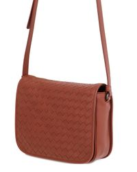 Bottega Veneta | Brown Intrecciato Nappa Leather Shoulder Bag | Lyst