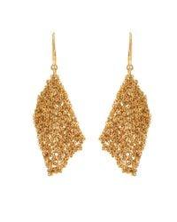 Diane von Furstenberg | Metallic Thea Mesh Drape Earrings | Lyst