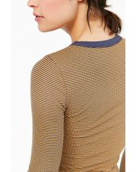Silence + Noise - Brown One Shot Cropped Top - Lyst