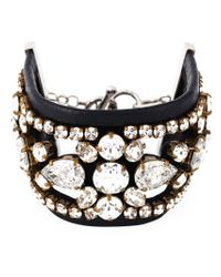 Shourouk - Black 'crystal Lace' Cuff - Lyst