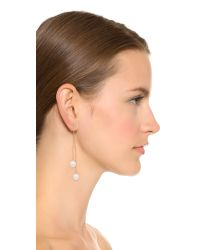 Kenneth Jay Lane | Metallic Imitation Pearl Dangling Earrings - Gold/pearl | Lyst