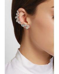 Ryan Storer - Metallic Rhodium-plated Swarovski Crystal Ear Cuff And Stud Earring - Lyst