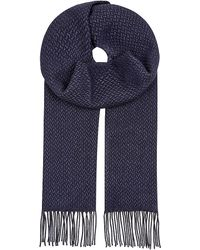 Corneliani | Blue Woven Silk-cashmere Scarf for Men | Lyst