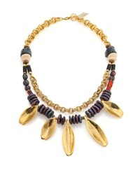 Lizzie Fortunato | Metallic Morrocan Sun Semi-precious Multi-stone Beaded Two-strand Necklace | Lyst