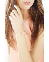 BCBGMAXAZRIA | Pink Natural Stone Wire Bracelet | Lyst