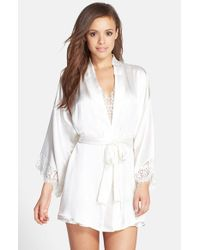 Hanky Panky | White 'lady Catherine' Silk Satin Robe | Lyst