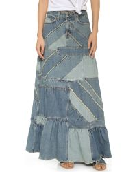 Marc By Marc Jacobs | Blue Patchwork Denim Skirt | Lyst