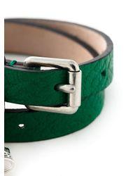 Alexander McQueen   Green Double Wrap Skull Bracelet   Lyst